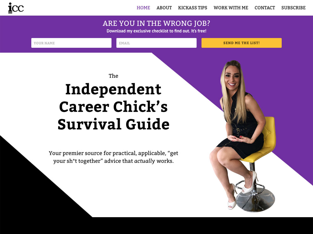 Independent Career Chick - Homepage