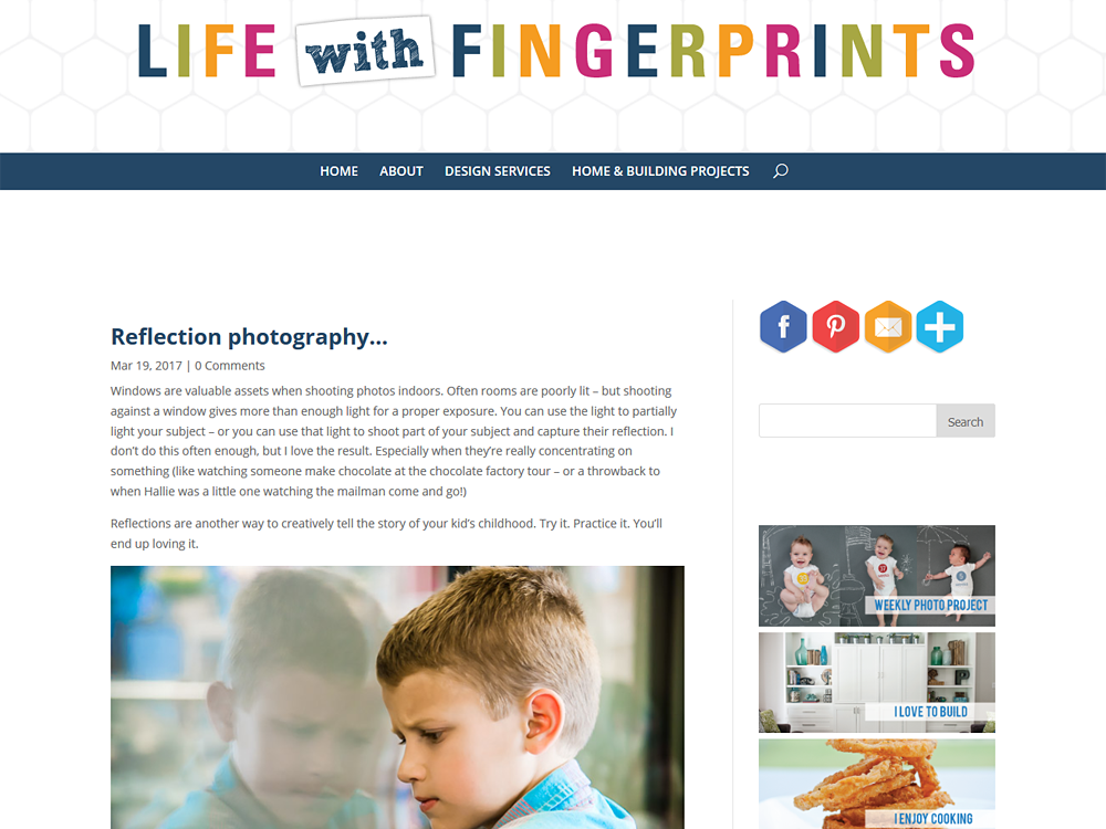 Life With Fingerprints - Custom Divi Layout