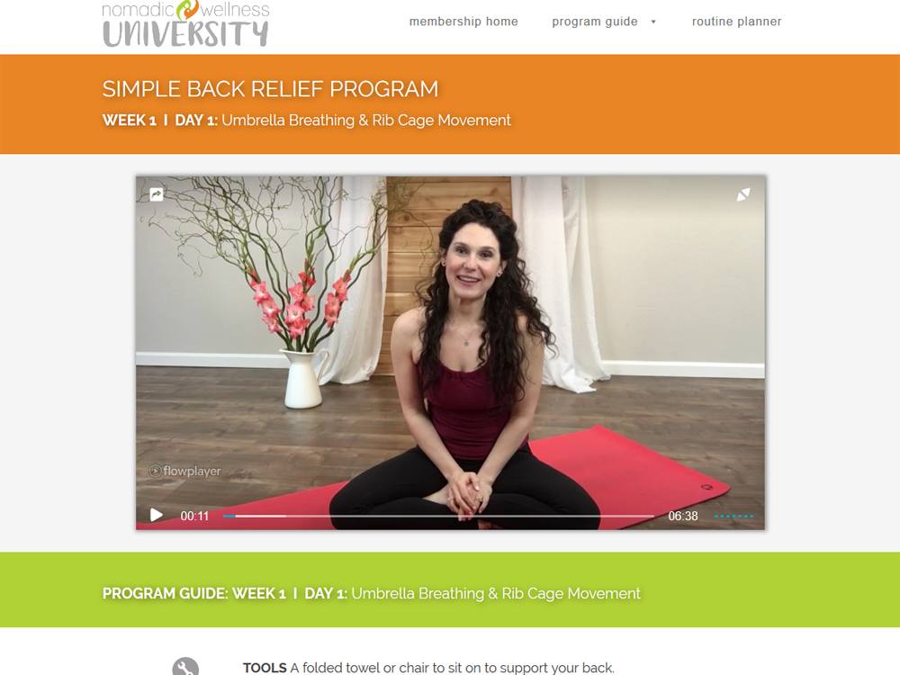Nomadic Wellness University - Membership Site