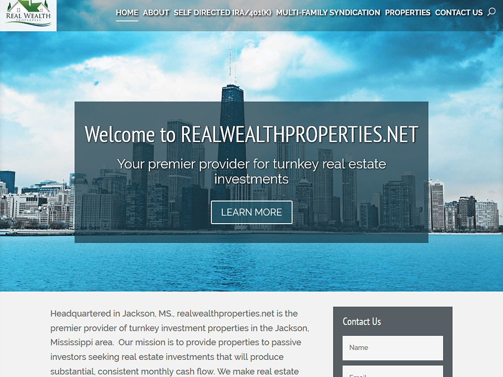 RealWealthProperties Web & Mobile Design