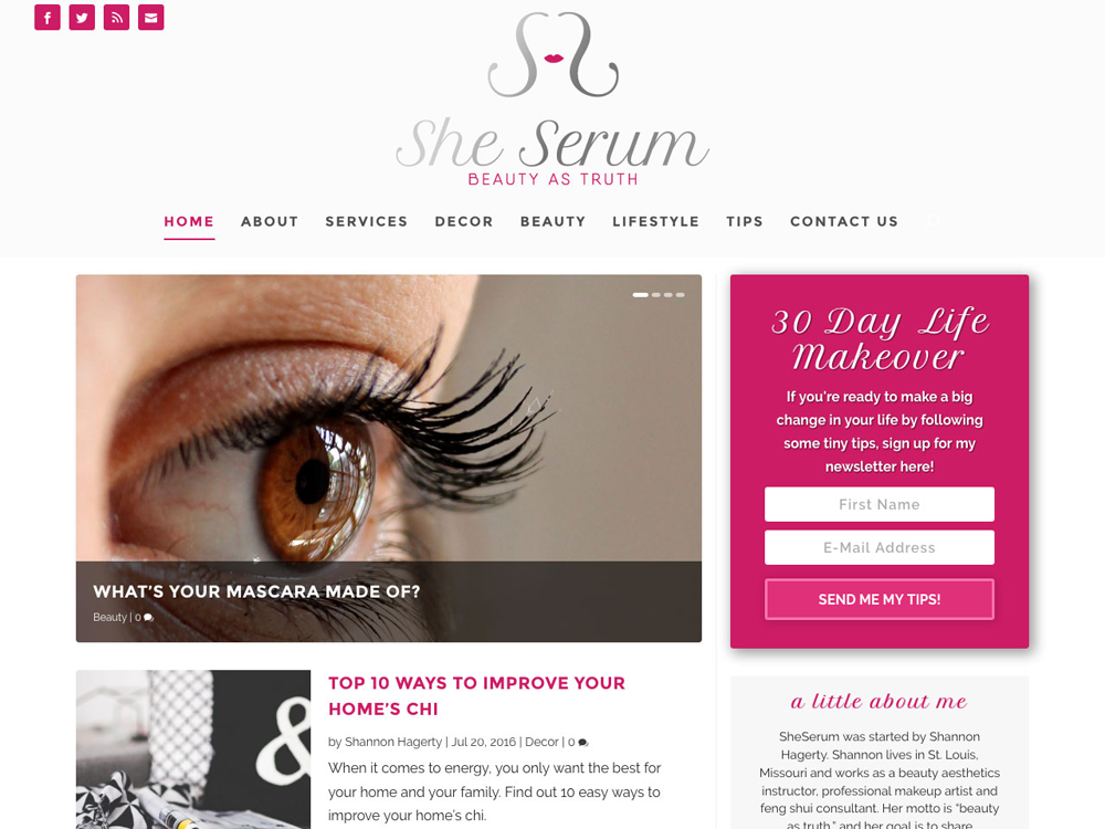 SheSerum.com Site Redesign