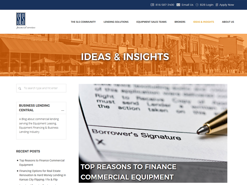 SLS Financial Blog - Site Overhaul and Added Features