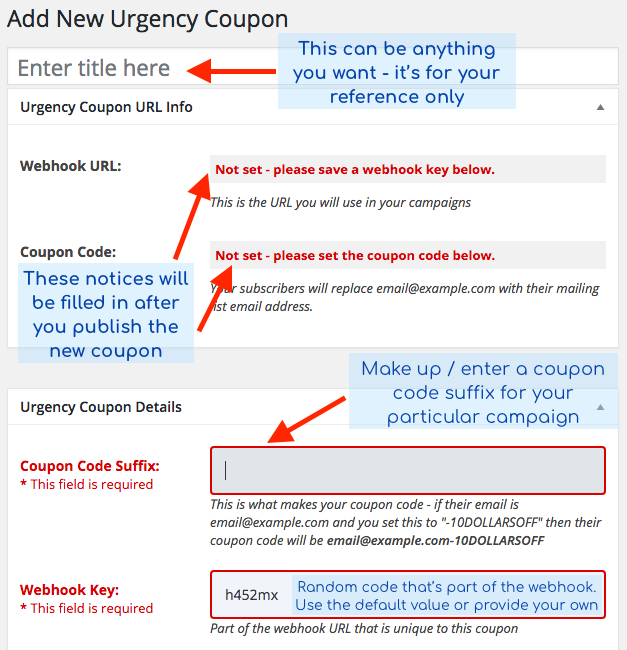 Adding a new Urgency Coupon #1