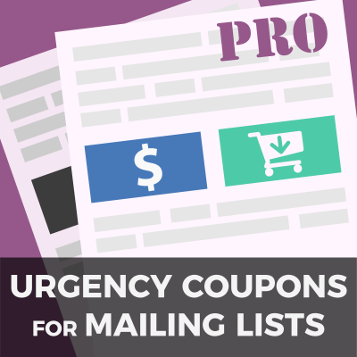 Urgency Coupons for Mailing Lists