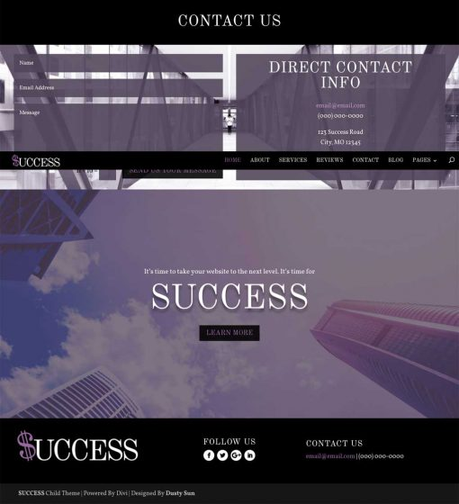 SUCCESS a child theme home page 04