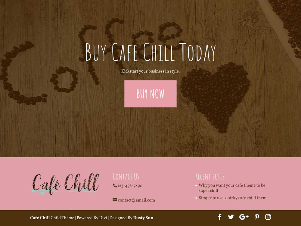 Cafe Chill - Divi Child Theme