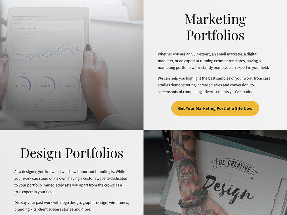 Build My Freelance Portfolio Site