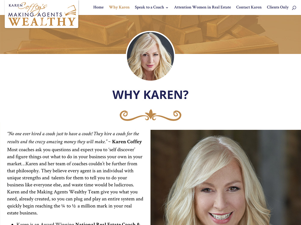 Karen Coffey Making Agents Wealthy